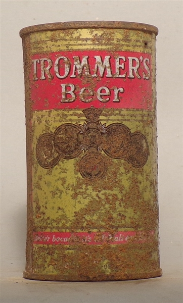 Trommer's Beer Flat Top w/ PA Tax Stamp