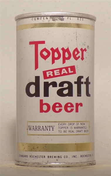 Topper Real Draft early Tab, Rochester, NY