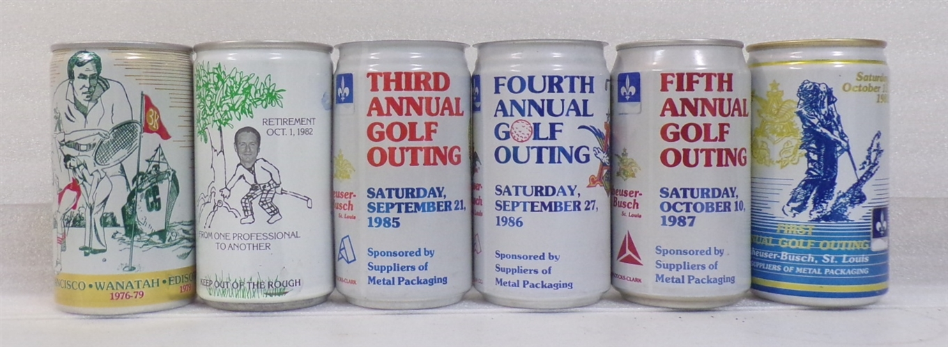 6 Aluminum Golfing Sports Cans #3