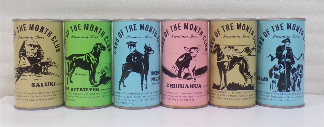 6 Cans of the Month Club Tab Tops featuring Dogs