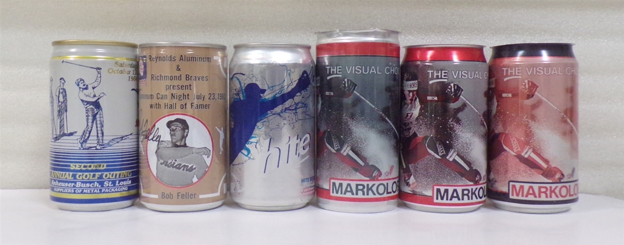 6 - 12 Ounce Aluminum Sports Cans