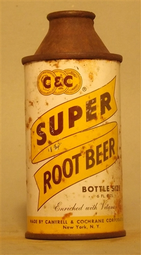 C&C Super Root Beer 7 Ounce Cone Top #1, New York, NY