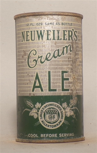 Neuweilers Cream Ale OI Flat Top, Allentown, PA