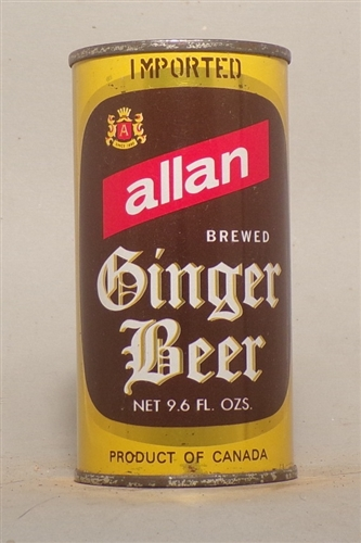 Allan Ginger Beer Flat Top, 9.6 Ounces, Canada